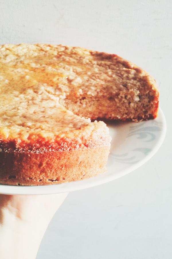 torta saludable de banana y avena