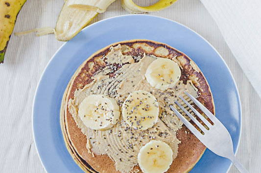 pancakes de avena y camote