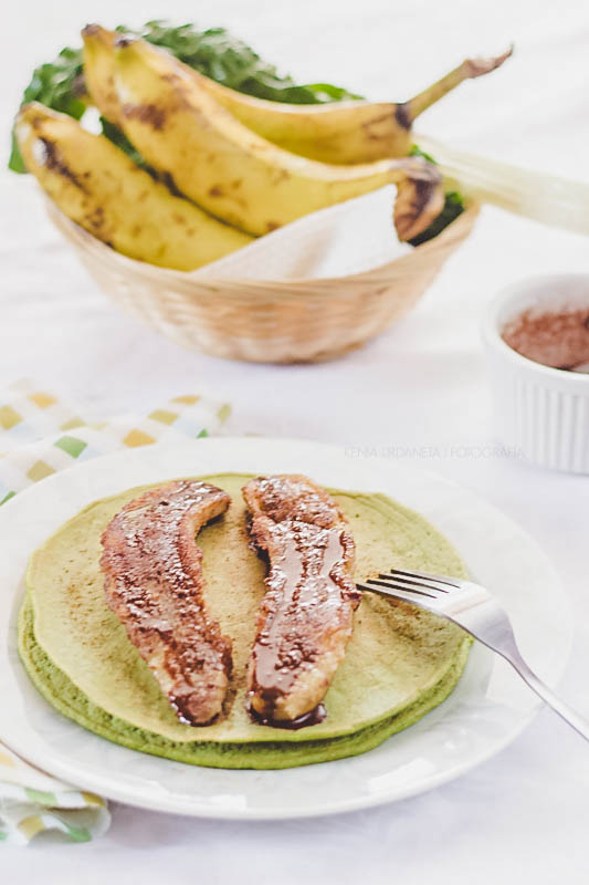 pancakes de avena verdes
