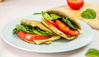 pan pita saludable de avena y lentejas